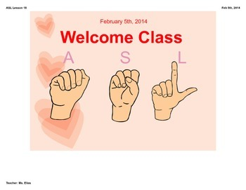 Valentine's Day ASL Lesson