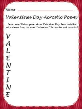 Valentines Day Acrostic Poem