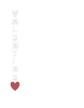 Valentine's Day Acrostic Poem Template
