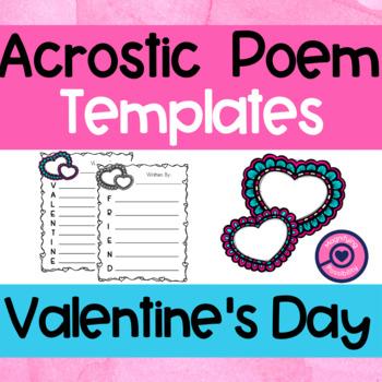 Valentine's Day Acrostic Poem Templates