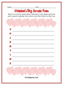 Valentine's Day Acrostic Poem! {Valentine}