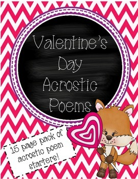 Valentine's Day Acrostic Poems