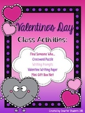 Valentine's Day Class Activities