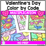 Valentines Day Coloring Pages Multiplication Color by Number