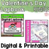 Valentines Day Activities Interactive Notebook Digital and