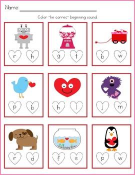 Valentines Day Activities - Level 1 FREEBIE
