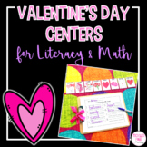 Literacy and Math Valentine's Day Centers for Kindergarten