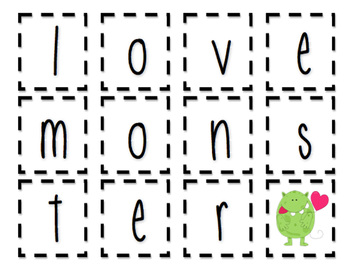Valentine's Day Activities - Monster Glyph