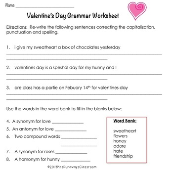 Valentine's Day Activities Packet