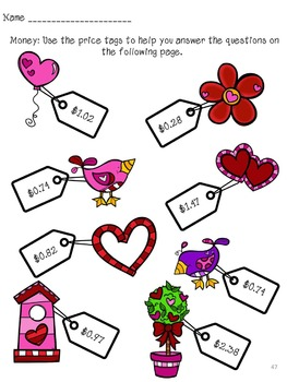 Valentine's Day Activities & Printables NO PREP Packet (2nd grade)