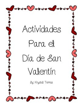 Valentine's Day Activities- Spanish