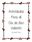 Valentine's Day Activities- Spanish