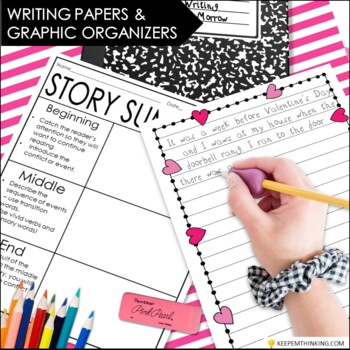 Valentines Writing Center - Valentines Day Activities