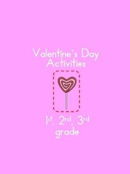 Valentine's Day Activities first, second, third