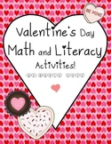 Valentine's Day Activities for Math and Literacy!