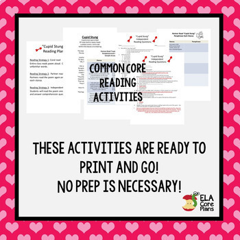 Valentine's Day Comprehension Activities for Middle School ELA ~ No Prep!