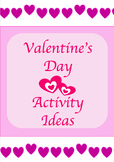 Valentine's Day Activities for different subject areas