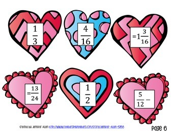 Valentine's Day Activity- Adding and Subtracting Fractions