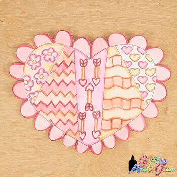 Valentines Day Activity | Design a Valentine Heart Art Sub Plan & Craft Project