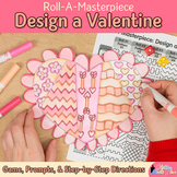 Valentines Day Activity | Design a Valentine Heart Art Sub Plan & Writing Prompt