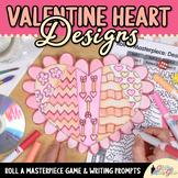 Valentines Day Activity: Design a Valentine Heart Art Sub Plan & Writing Prompt