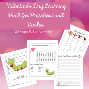 Valentine's Day Activity Learning Pack-PreK/Kinder