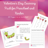 Valentine's Day Activity Learning Pack-Preschool, Kinder,