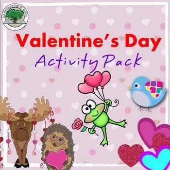 Valentine's Day Activity Pack NO PREP Good Sub Lesson