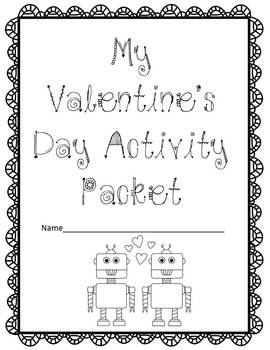 Valentine's Day Activity Packet Grades 3-6