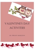 Valentine's Day Activity Packet K-2