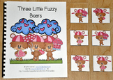 """Valentine's Day Adapted Book (Position Words)--""""Three Little Fuzzy Bears"""