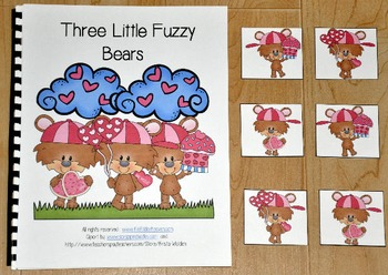 "Valentine's Day Adapted Book (Position Words)--""Three Little Fuzzy Bears"