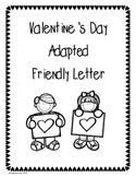 Valentine's Day Adapted Friendly Letter