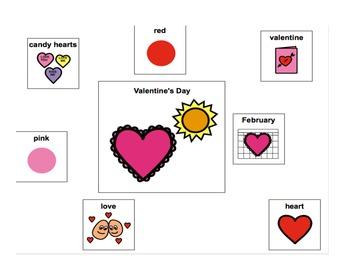 Valentine's Day Adaptive Book (autism/language delays/disorders).