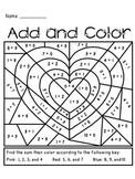 Valentine's Day Add and Color Activity