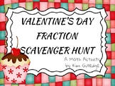 Valentine's Day Adding and Subtracting Fraction Scavenger Hunt