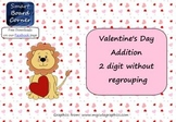 Valentine's Day Addition 2 Digit Without Regrouping Smart Board Lesson