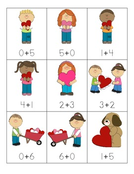 Valentine's Day Addition Fact Sort