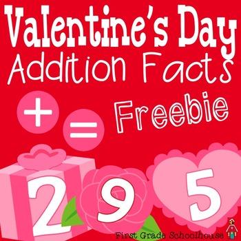 Valentine's Day Addition Facts Freebie