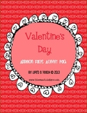 Valentine's Day Addition Math Facts Activity Pack