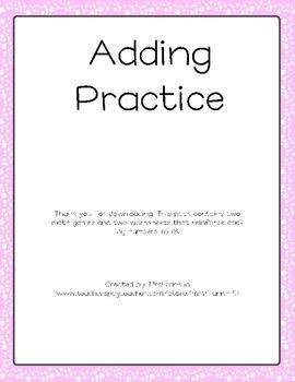 Valentine's Day Addition Practice
