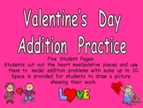 Valentine's Day Addition Practice- Sums to 10- Kindergarten