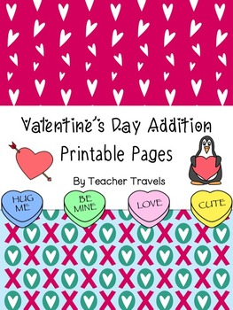 Valentine's Day Addition Printable Pages