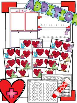 Valentine's Day Addition & Subtraction Practice
