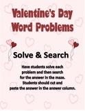 Valentine's Day Addition and Subtraction Mixed Word Problems!