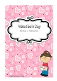 Valentine's Day Addition and Subtraction black/white