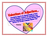 Valentine's Day Adjective Activity with Pre-write and Heart Template