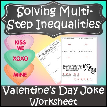 Valentines Day Algebra Activity Inequalities {Algebra Valentines Day Activity}