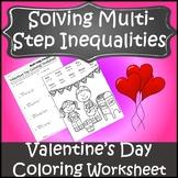Valentines Day Algebra Coloring {Algebra Valentines Day Activity Inequalities}