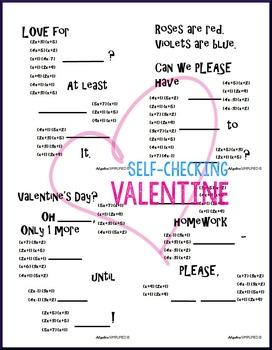 Valentine's Day Algebra -- Factoring Trinomials